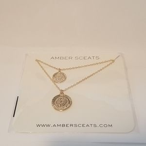 Amber Sceat Double Coin Necklace